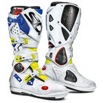 _Sidi Crossfire 2 SRS Boots Yellow Fluo/White/Blue | BSD22161400 | Greenland MX_