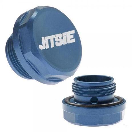 _Jitsie Keihin Bolt Carburetor Float Bowl Blue | JI611-3921B | Greenland MX_