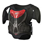 _Alpinestars A-5 S Youth Chest Protector Black/Red   6740518-13-P   Greenland MX_
