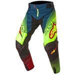 _Alpinestars Techstar Factory 2017 Pant Green/Yellow Fluor/Red | 3721017-7073 | Greenland MX_