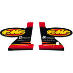 _Stickers Silencer FMF Q Stealth Red (Pair) | 012692 | Greenland MX_