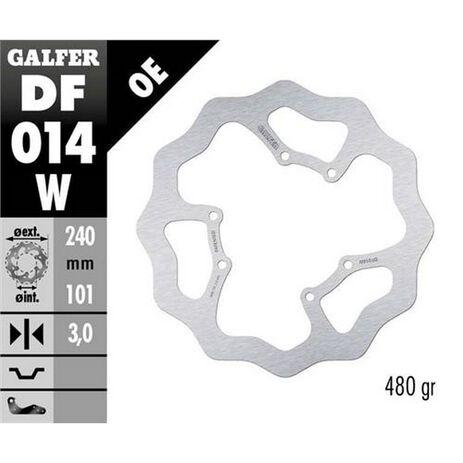 _Disque de Frein Avant Galfer Honda CR 125 R 98-01/95-97/05-07 240x3 mm | DF014W | Greenland MX_