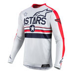 _Alpinestars 5 Stars Racer Tech LE Jersey Red/Grey | 3762619-9034 | Greenland MX_