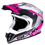_Casco Scorpion VX-16 Air Arhus Opaco Griggio/Rosa | 46-266-219 | Greenland MX_