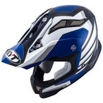 _KYT Strike Eagle Wings Helmet White/Blue | KYT-YSEA0013 | Greenland MX_