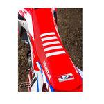 _Housse de selle avec bordures Honda CRF 250 R 18-19 CRF 450 R/X 17-19 USA Rouge-Blanc | ST17CRFBTSR | Greenland MX_