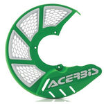_Acerbis X-Brake 2.0 Vented Front Disc Protector Green/White | 0021846.130 | Greenland MX_