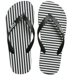 _Fox Jail Break Beach Sandals Black/White | 21243-018-P | Greenland MX_