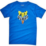 _Fox Fox Lyruh Kid T-Shirt Blue | 21287-188-KP | Greenland MX_