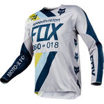 _Fox 360 Draftr Jersey Gray/Blue | 19418-097-P | Greenland MX_