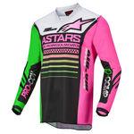 _Alpinestars Racer Compass Jersey Black/Green/Pink   3762122-1669   Greenland MX_