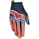 _Alpinestars Radar Tracker Youth Gloves Petrol/Orange Fluor/Blue | 3541917-7074 | Greenland MX_