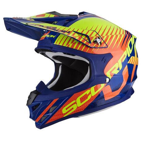 _Scorpion VX-15 Evo Air Sin Helmet Blue/Orange | 35-247-204-P | Greenland MX_