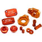 _Zeta Racing KTM SX 250 13-18 SX-F 250/350/450 13-18 Aluminum Accessories Kit Orange | ZE51-2443 | Greenland MX_