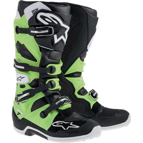 _Alpinestars Tech 7 Boots Green/Black | 2012014-16 | Greenland MX_