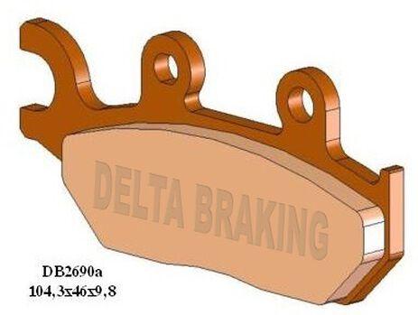 _Plaquettes De Frein Avant Delta Yamaha XT600 E 92-03 | DB2690 | Greenland MX_