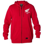 _Giacca Fox Honda Zip Fleece Rosso | 21145-208-P | Greenland MX_