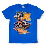 _Jorge Prado Action Tee Blue | JP61-200BL | Greenland MX_