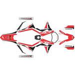 _Honda CRF 250/300/450/500 X 17-18 Full Sticker Kit | SK-CRFX1718RDWTBK-P | Greenland MX_
