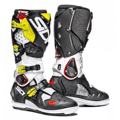 _Sidi Crossfire 2 SRS Boots White/Black/Yellow Fluo | BSD22112600 | Greenland MX_