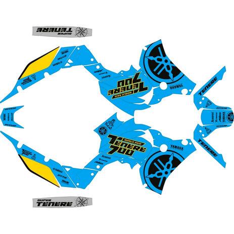 _Kit Adhesivos Completo Logo Yamaha Ténéré 700 19-.. Azul/Amarillo/Negro   SK-YTE70019LOBLYBK-P   Greenland MX_
