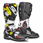 _Sidi Crossfire 2 Boots White/Black/Yellow Fluo | BSD22012600 | Greenland MX_