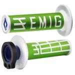 _ODI MX Lock On V2 Emig 2ST Grips Green/White   H32EMNW   Greenland MX_