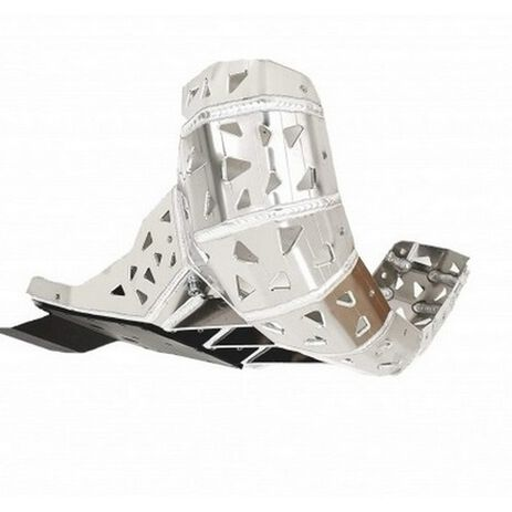 _P-Tech Skid Plate with Exhaust Pipe Guard and Plastic Bottom KTM EXC 250/300 20-..HVA TE 250/300 20-. | PK016H | Greenland MX_