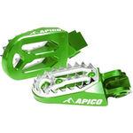 _Apico Pro-bite Kawasaki KX 250 F 06-16 KX 450 F 07-16 Enduro Footpegs Green | AP-FPROKXVE | Greenland MX_